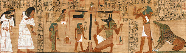 the death and journey of the egyptian soul The journey to the afterworld was considered full of danger travelling on a solar bark , the mummy passed through the underworld, which was inhabited by serpents armed with long knives, fire-spitting dragons and reptiles with five ravenous heads.