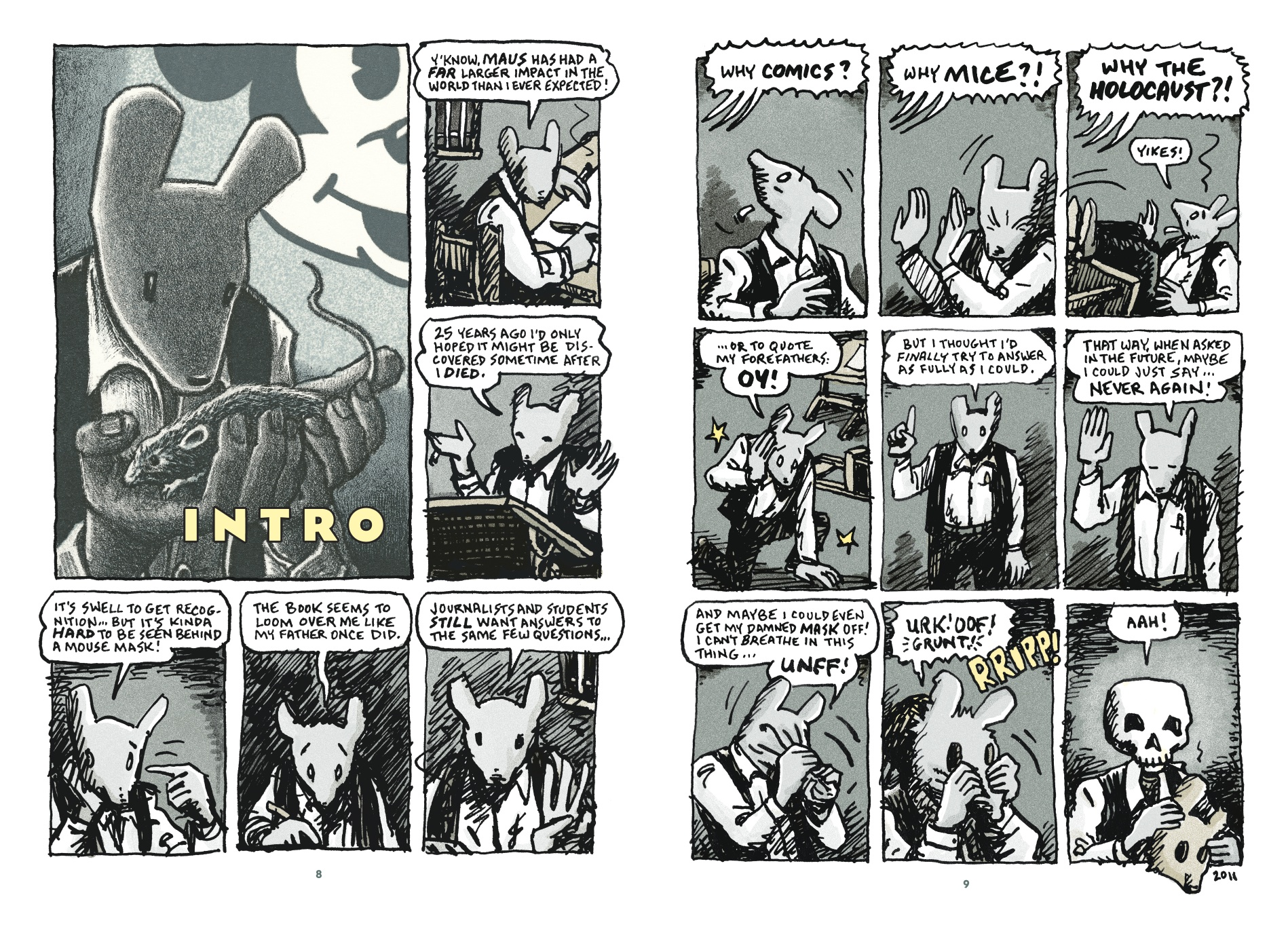 Evaluation of The Complete Maus, by Art Spiegelman Essay Illustrations