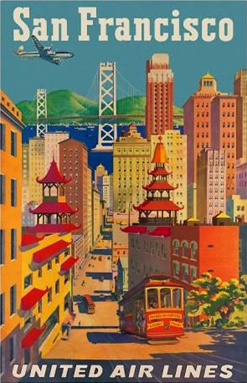 Vintage San Francisco Travel Posters (11)