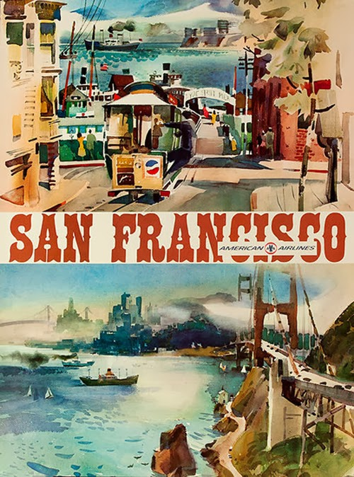 Vintage San Francisco Travel Posters (4)