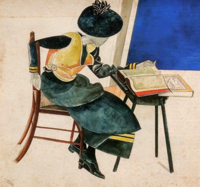 Lewis, Wyndham (1882-1975) Woman in blue, 1921