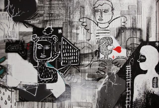 11- - La France Kiss _JE SUIS CHARLIE_, mural by André, Lek & Sowat, Cokney, Alëxone, Arnaud Liard, Hugo Vitrani, Jean Charles de Castelbajac and Feli
