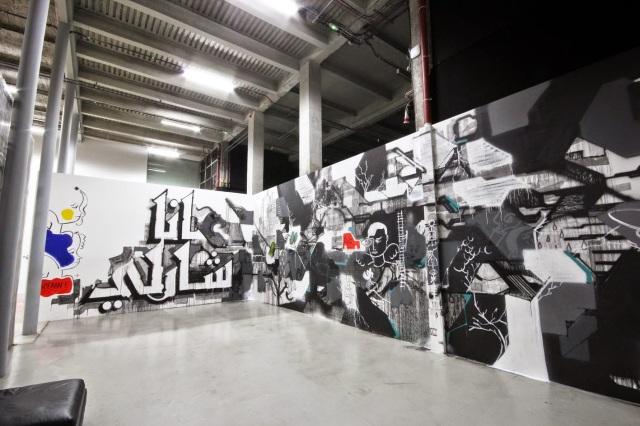 16- La France Kiss _JE SUIS CHARLIE_, mural by André, Lek & Sowat, Cokney, Alëxone, Arnaud Liard, Hugo Vitrani, Jean Charles de Castelbajac and Felipe