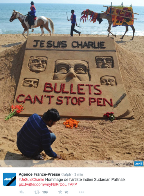jesuisCharlie-partout-Inde-sable