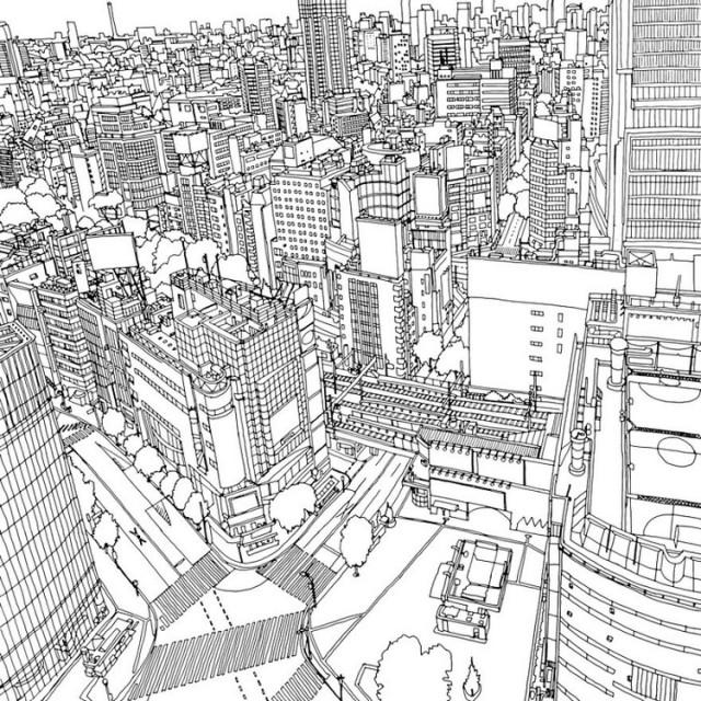 fantastic-cities-coloring-book-tokyo