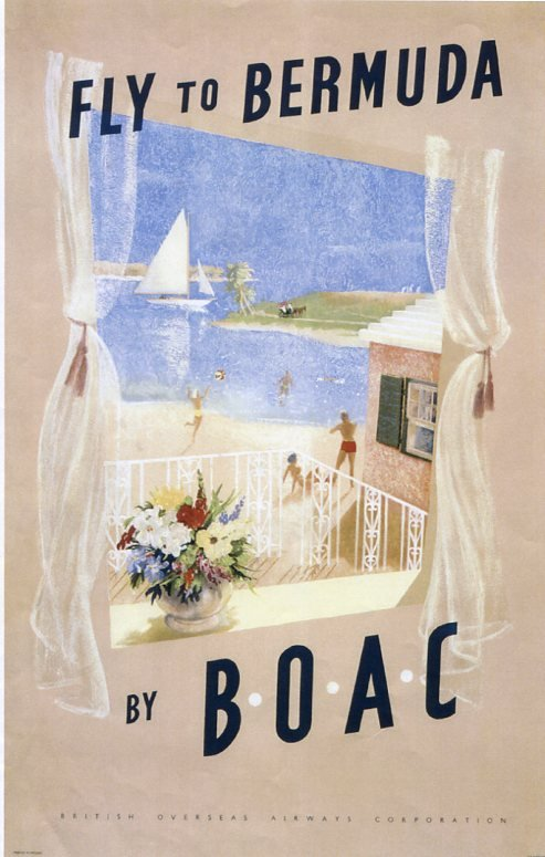 the-poster-came-from-the-1960s-and-advertised-bermuda-as-a-holiday-destination-from-the-uk