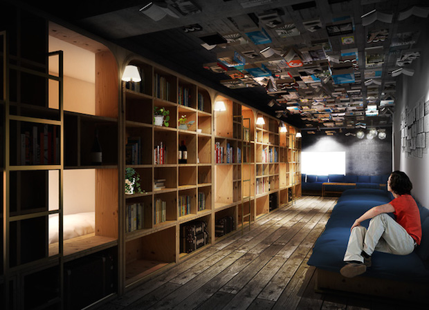 book-bed-hotel-japan-tokyo-bookstore-hostel-1