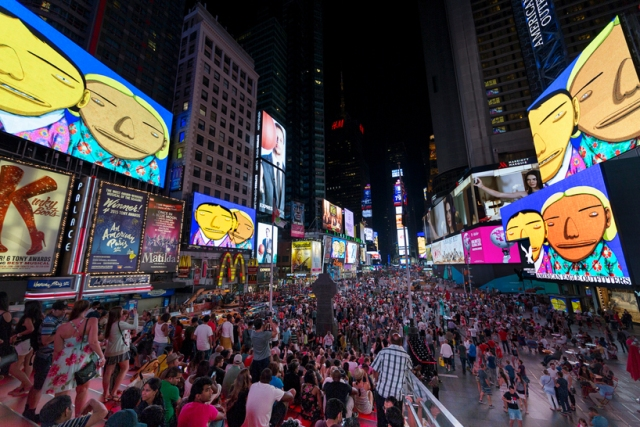 os-gemeos-times-square-midnight-moment-parallel-connection-designboom-54