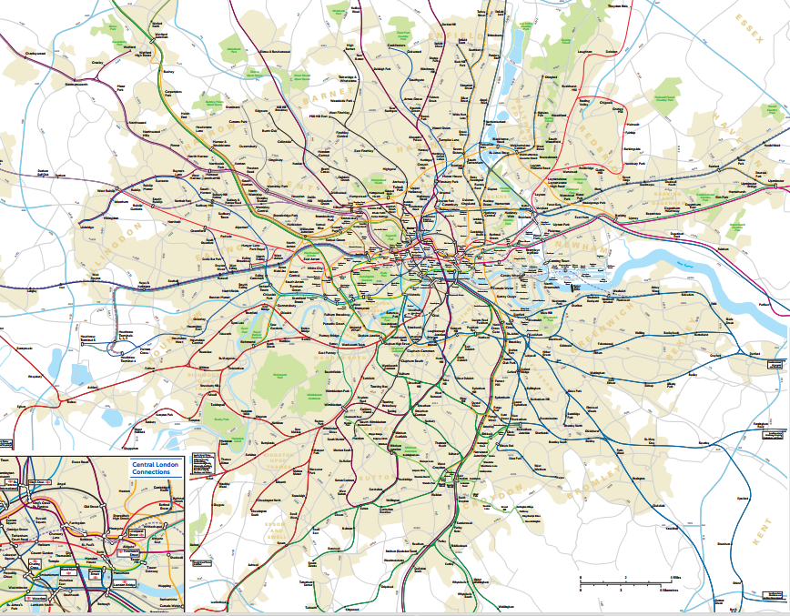 Londons Secret Map Travel Between The Pages - London map pdf 2015