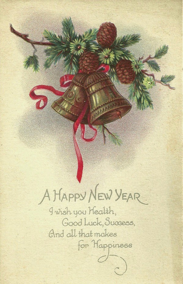Lovely vintage New Year card (1)