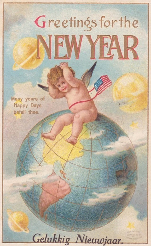 Lovely vintage New Year card (20)