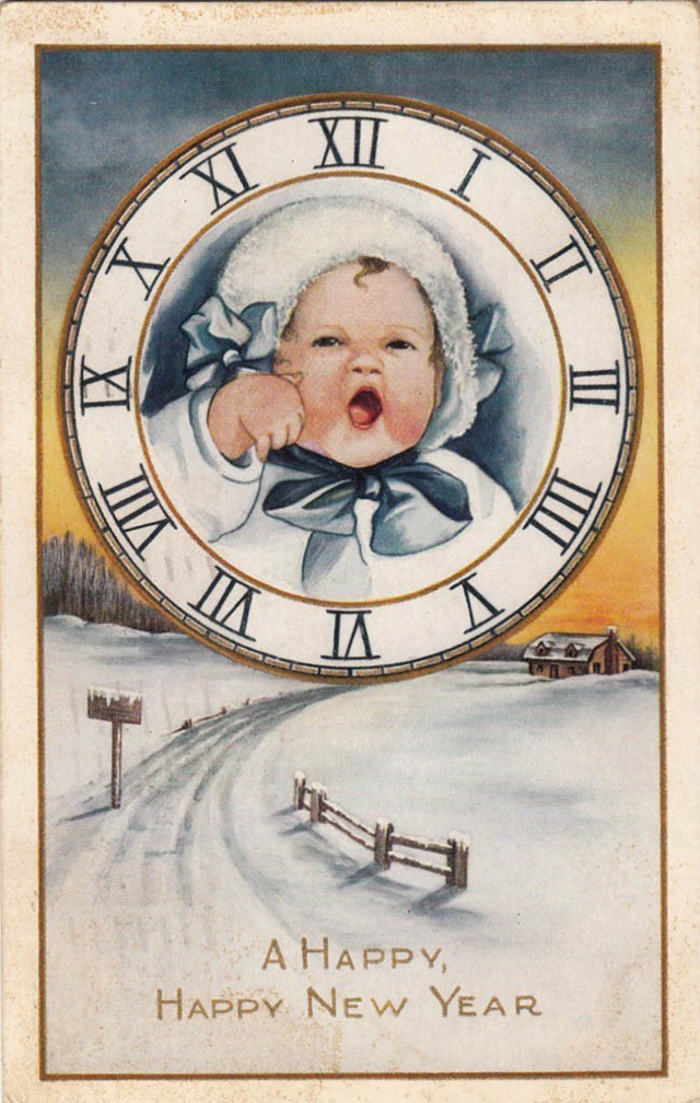 Lovely vintage New Year card (23)