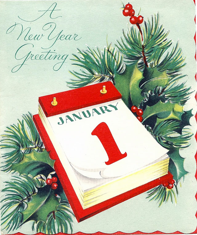 Lovely vintage New Year card (30)