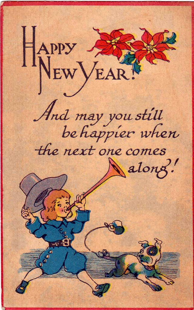 Lovely vintage New Year card (6)