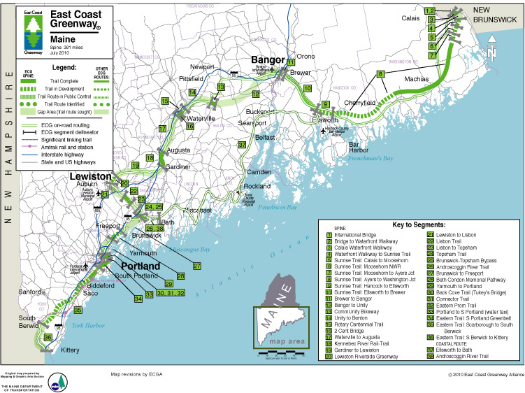 Key west to canada by bike travel between the pages for Key west bike trails