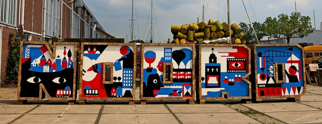 noord-spelled-out-in-street-art-brick-blocks-at-ndsm-amsterdam