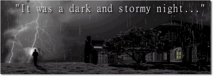 It was a dark and stormy night | Travel Between The Pages